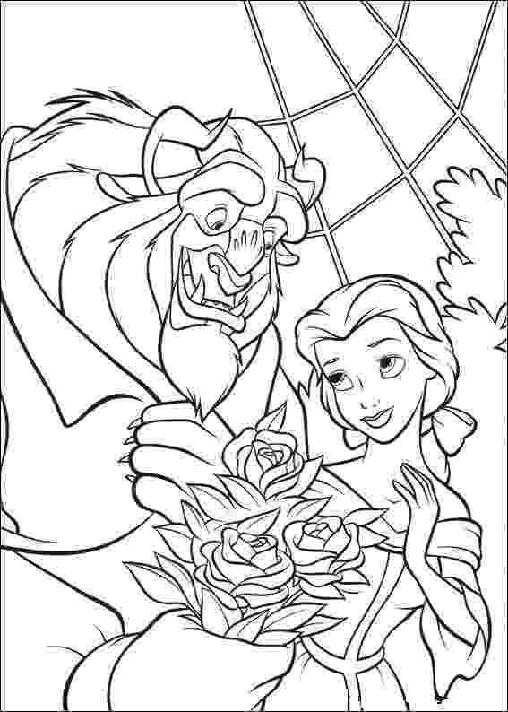 beauty and the beast pictures to colour free printable beauty and the beast coloring pages for kids to pictures beast and the colour beauty