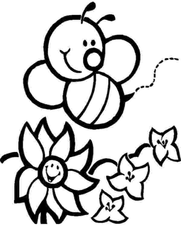 bee coloring sheet bee coloring pages for kids preschool and kindergarten coloring sheet bee