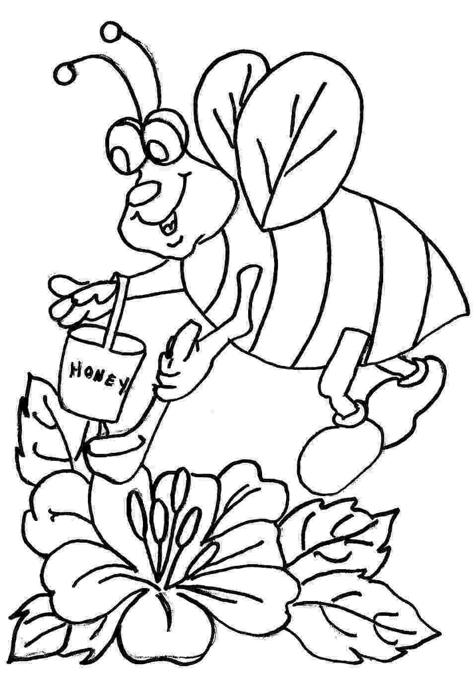 bee coloring sheet bee coloring pages to download and print for free coloring bee sheet