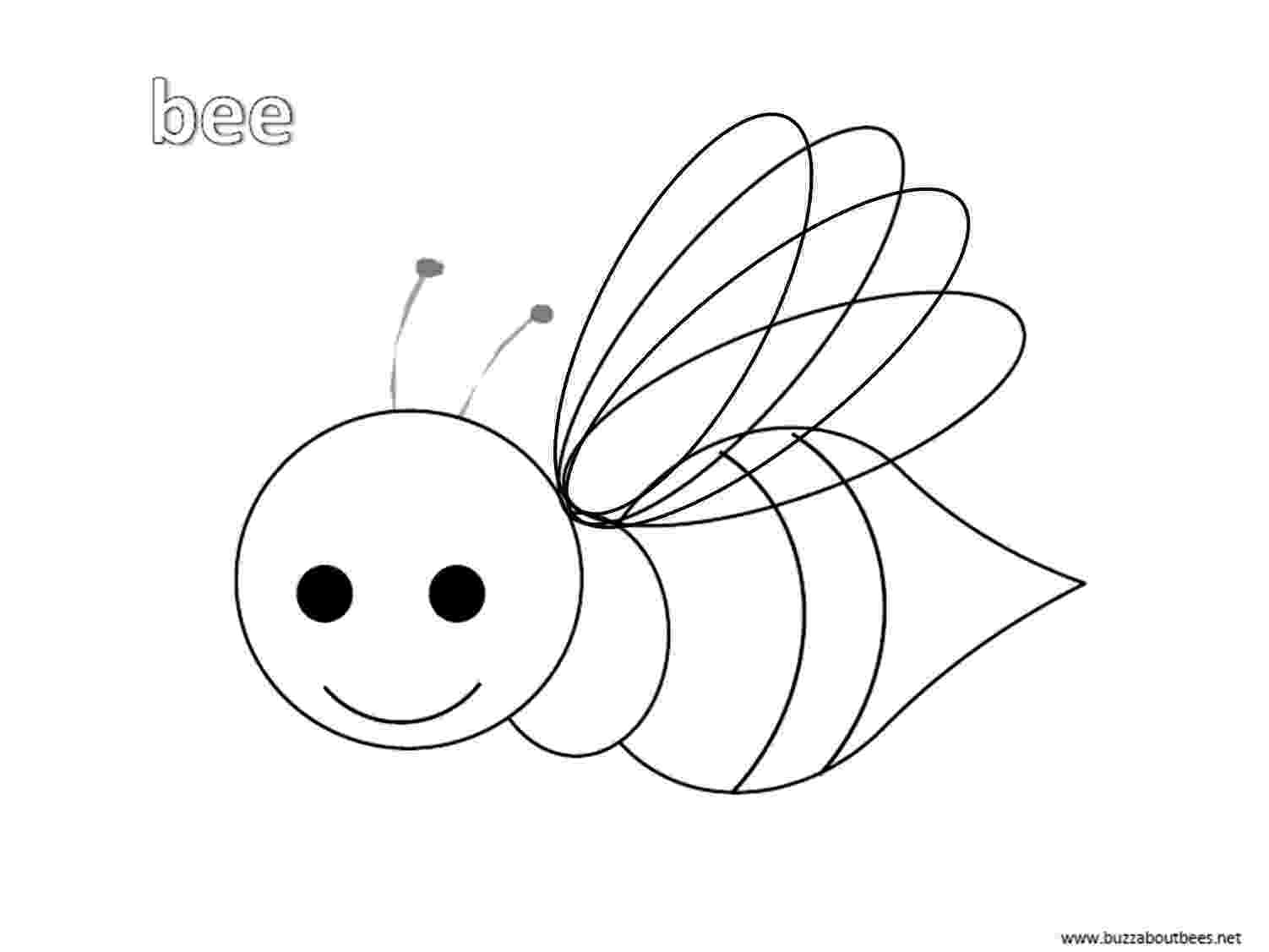 bee coloring sheet cute bee coloring pages for kids drawing coloring bee sheet