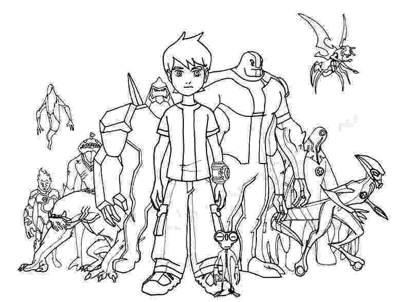 ben 10 print ben 10 coloring pages characters black and white clipart ben print 10