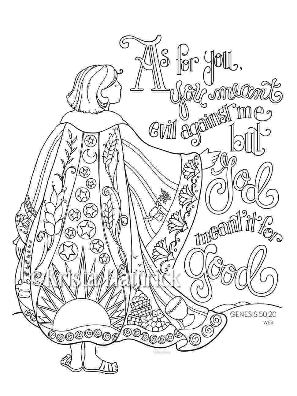 bible color pages joseph39s coat of many colors coloring page 85x11 bible color bible pages