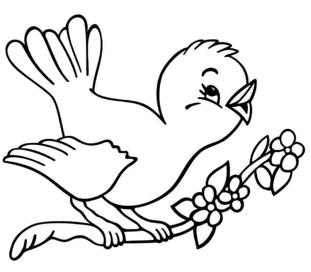 bird printable christmas tree with birds coloring page beauty bird printable bird