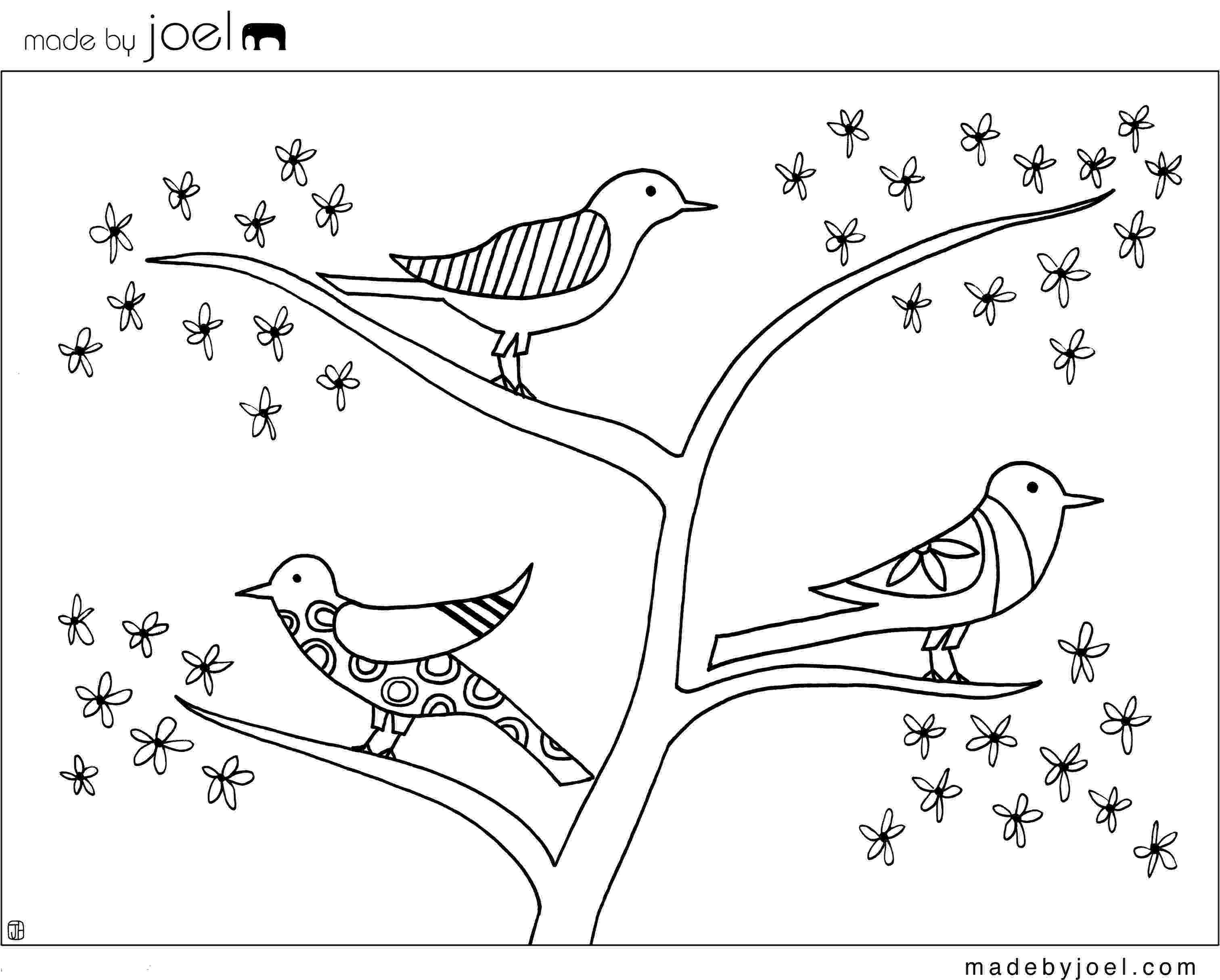 bird printable made by joel giveaway winners and new coloring sheet bird printable