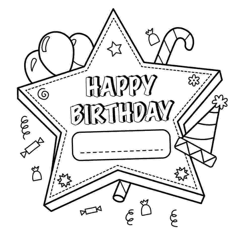birthday card coloring page birthday cards to color lovetoknow birthday page card coloring