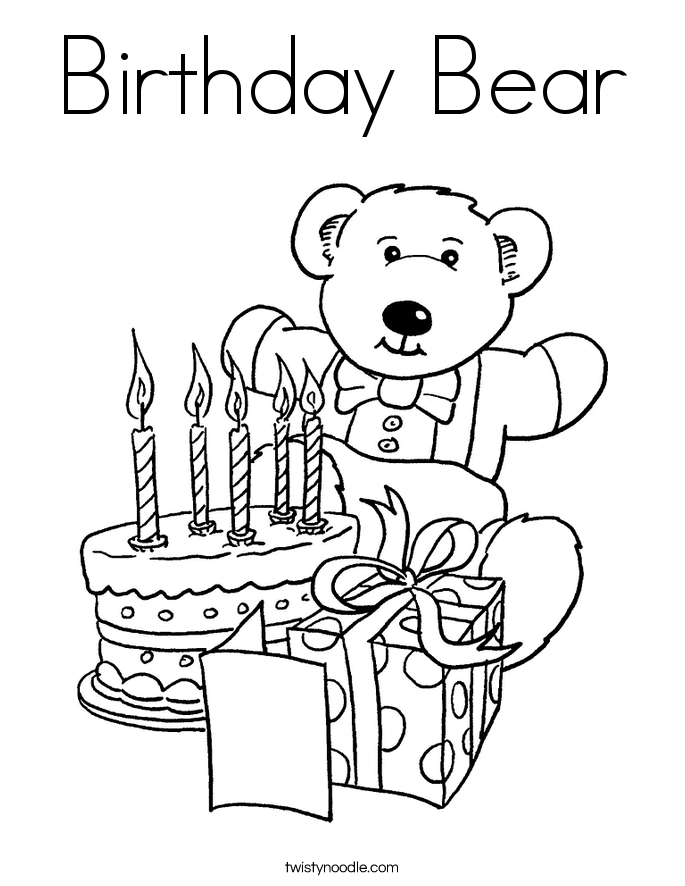 birthday card coloring page free happy birthday coloring page and hershey coloring birthday page card