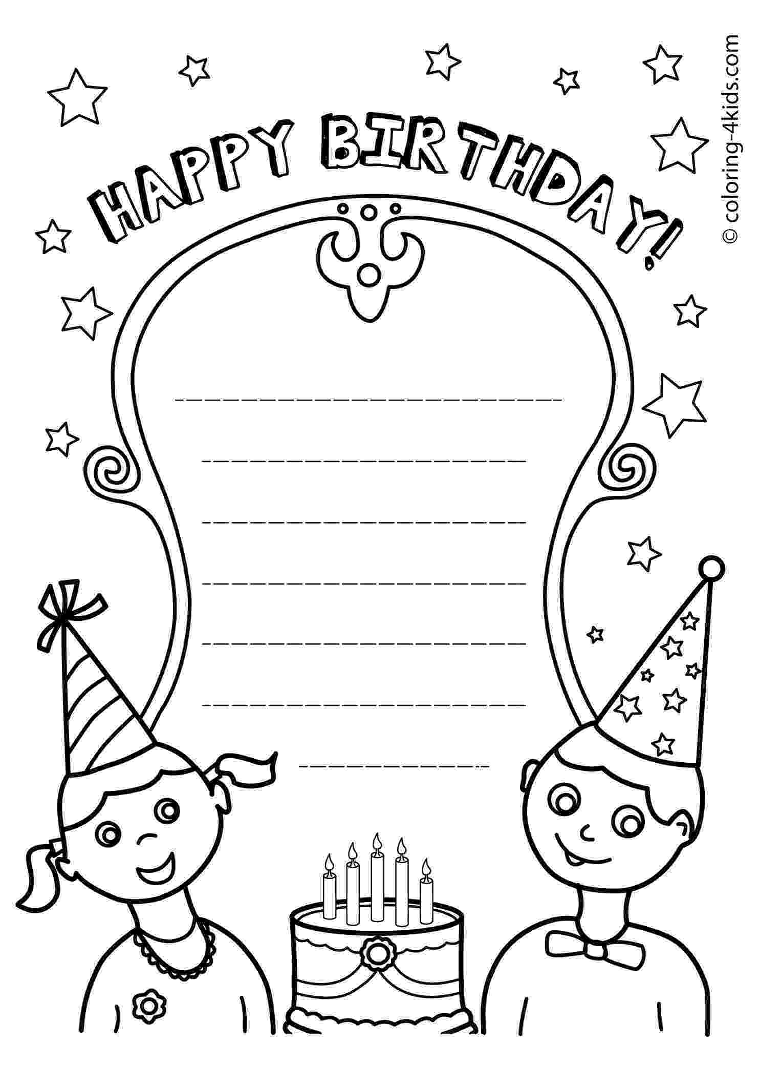 birthday card coloring page free printable birthday cards the organised housewife page card coloring birthday