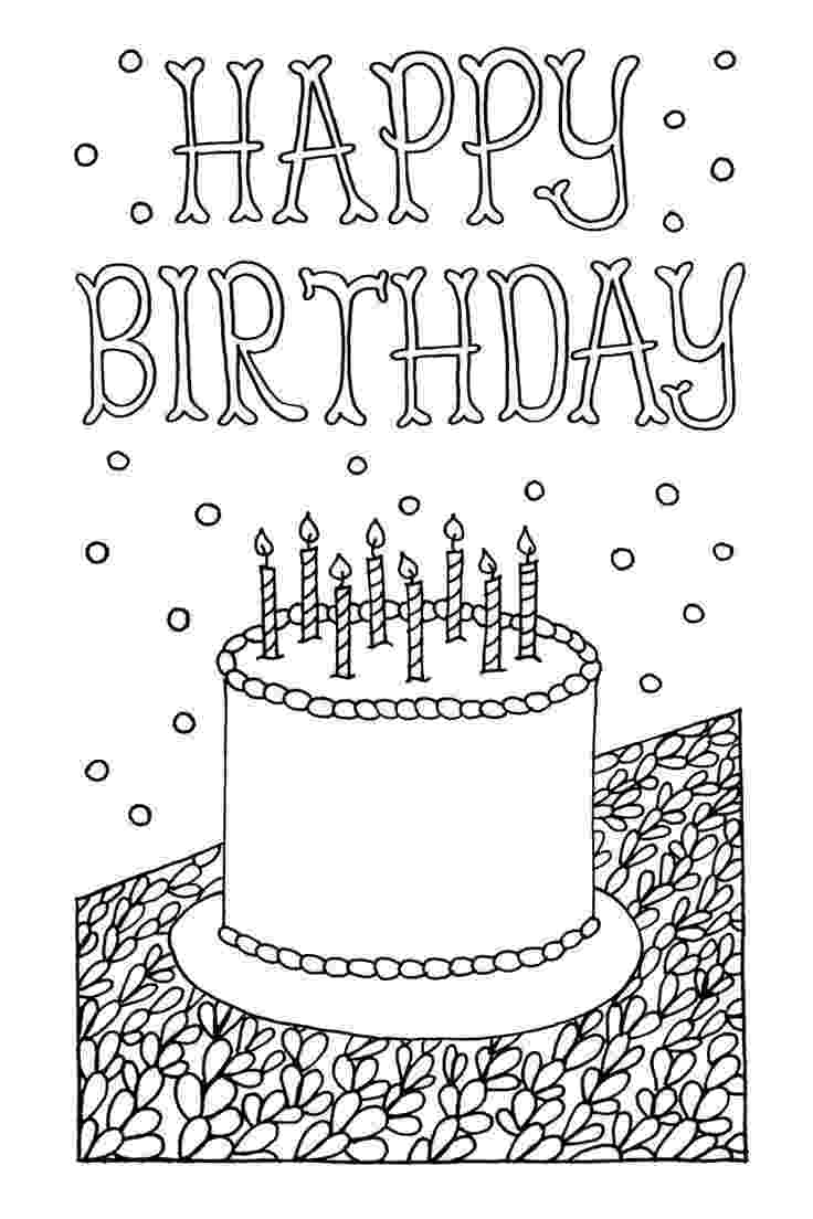 birthday card coloring page free printable happy birthday coloring pages for kids page birthday card coloring