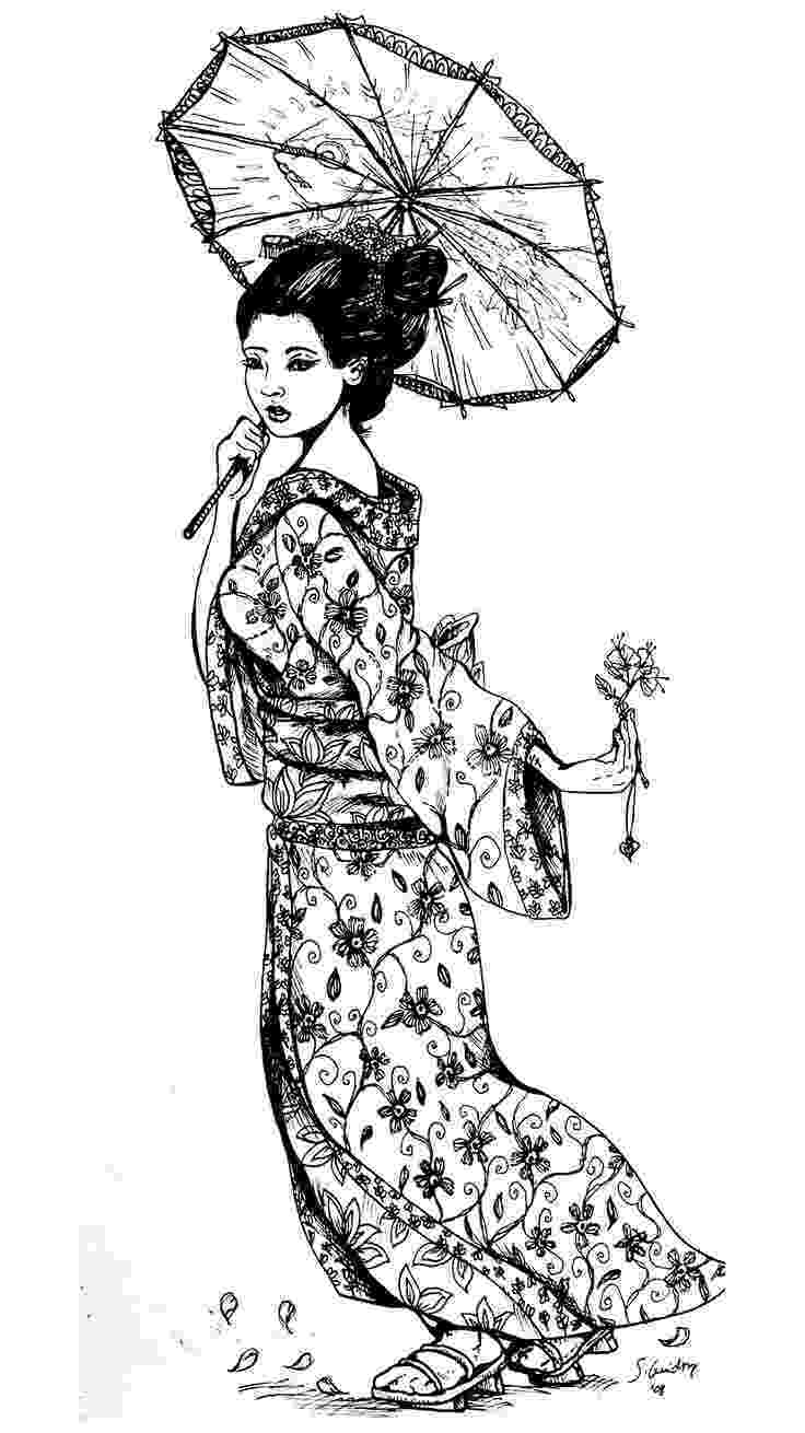 black and white coloring pages for adults free coloring page coloring geisha japan tatouage a adults black and coloring white for pages