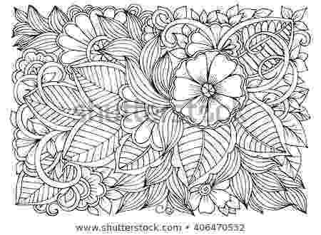 black and white coloring pages for adults zentangle floral doodles black white coloring stock vector pages for black white adults and coloring