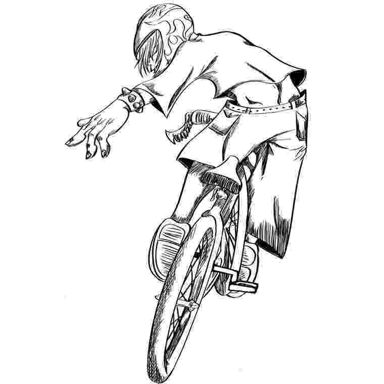 bmx bike coloring pages bmx biker side view coloring pages hellokidscom bmx coloring bike pages