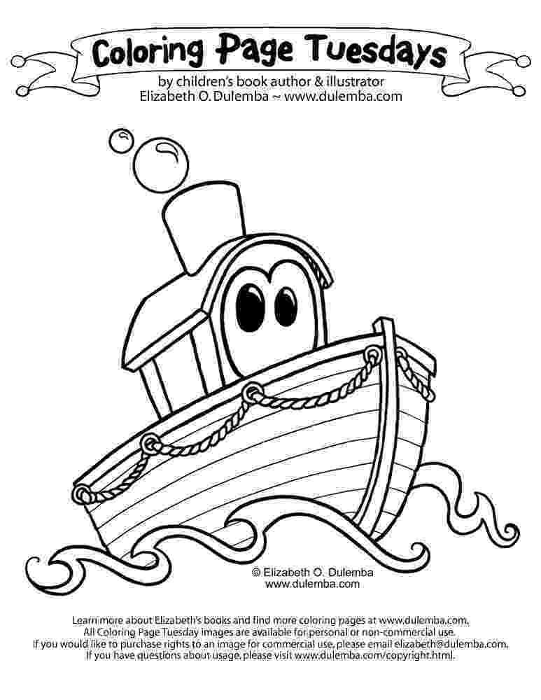 boat coloring page dulemba coloring page tuesday boat boat page coloring