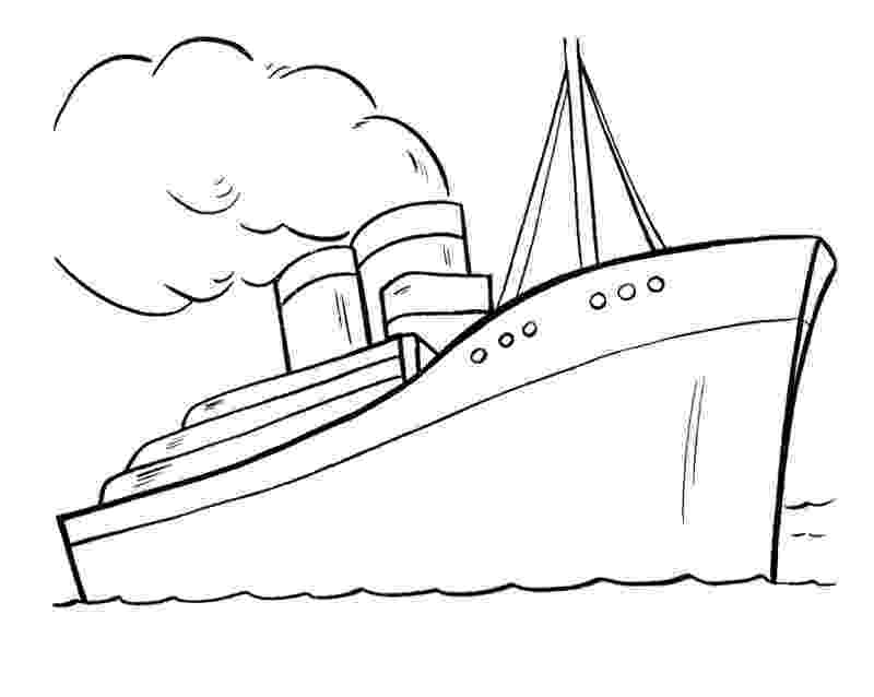 boat coloring page ship coloring pages to download and print for free boat coloring page