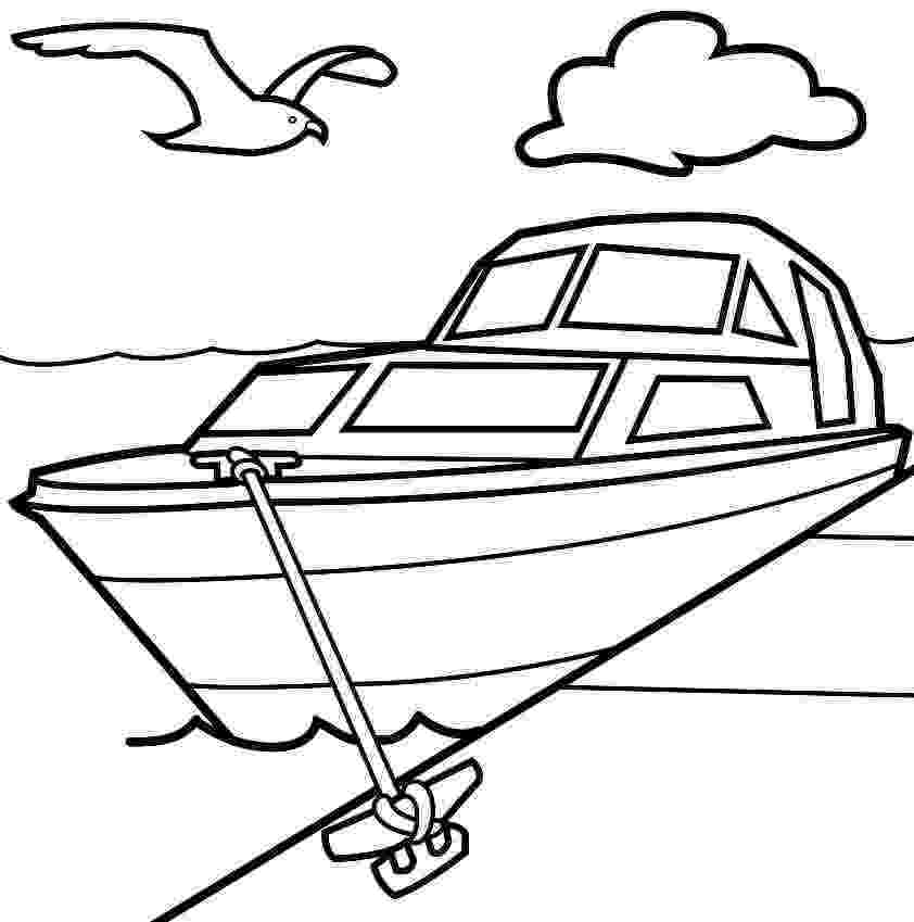boat coloring page speed boat drawing at getdrawingscom free for personal page boat coloring