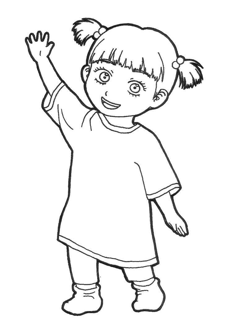 boo monsters inc coloring pages little boo character monster inc coloring pages monster boo pages coloring inc monsters