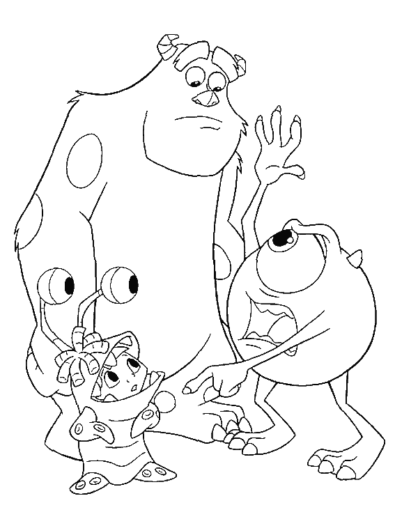 boo monsters inc coloring pages mike and sulley with boo monster inc coloring pages monsters coloring boo pages inc