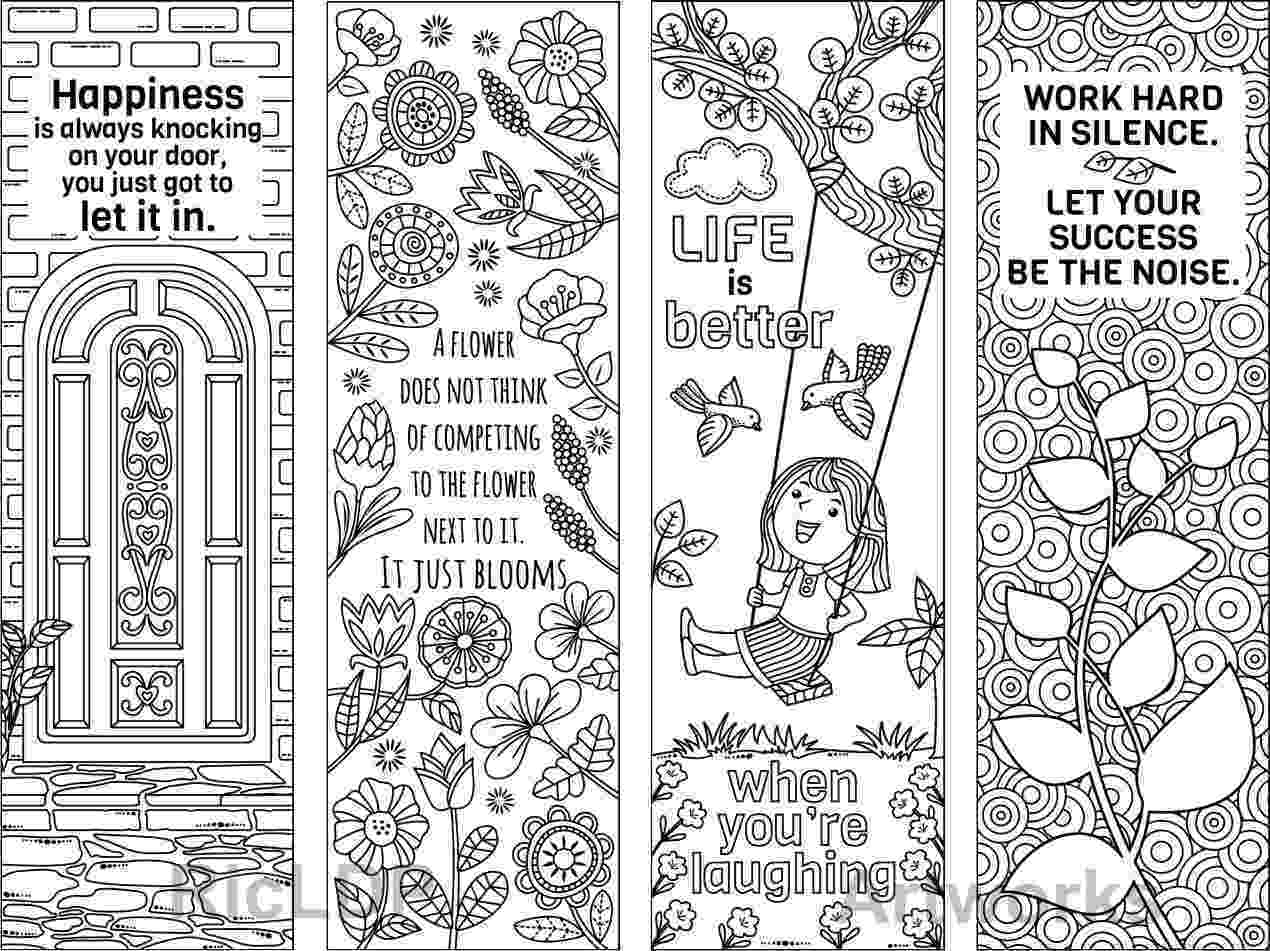 bookmarks coloring sheets 8 coloring bookmarks with feel good quotes printable coloring coloring bookmarks sheets