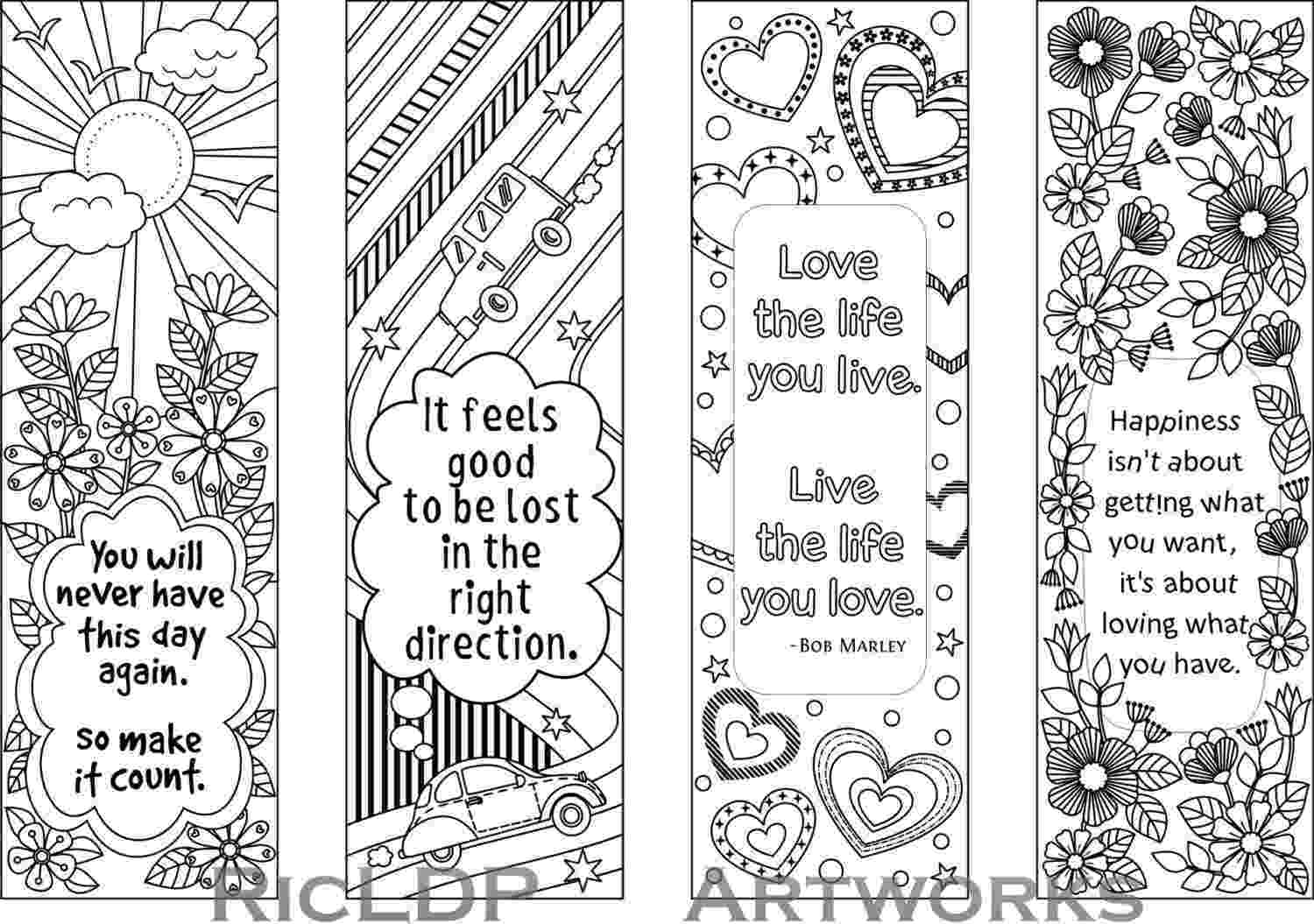 bookmarks coloring sheets 8 coloring bookmarks with quotes on books and reading coloring sheets bookmarks