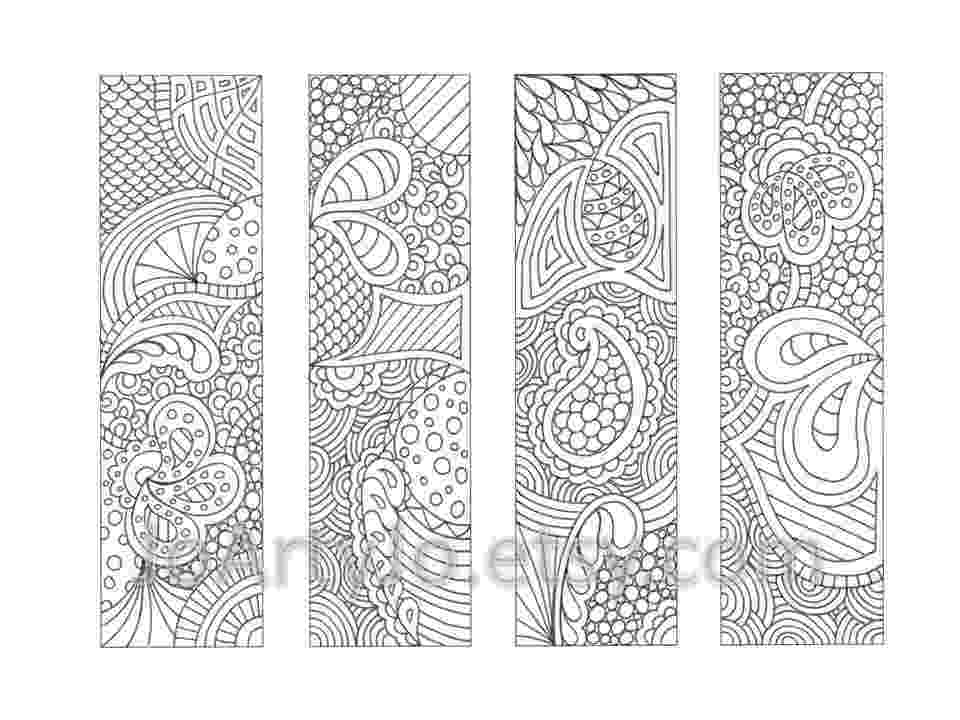 bookmarks coloring sheets printable bookmarks coloring page zendoodle zentangle sheets coloring bookmarks