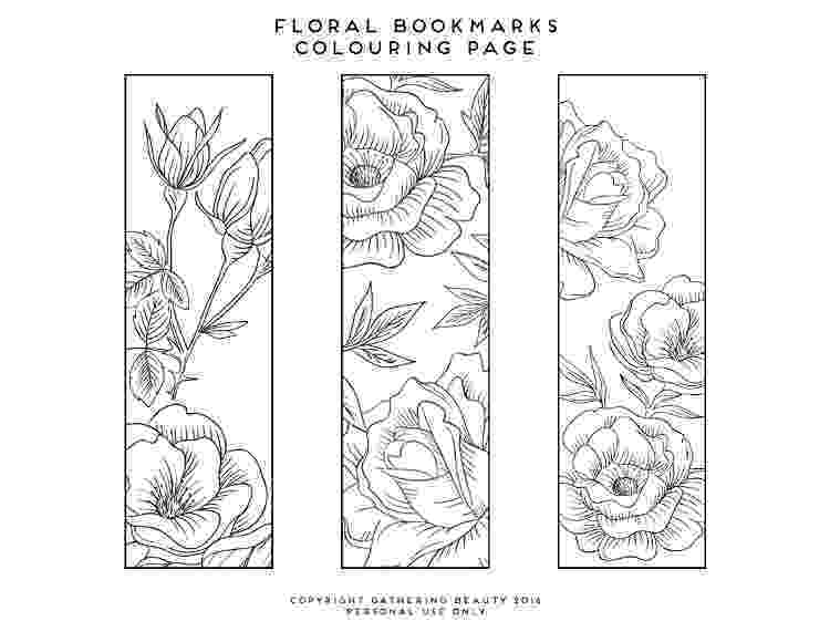 bookmarks coloring sheets printable colouring page bookmarks gathering beauty coloring sheets bookmarks