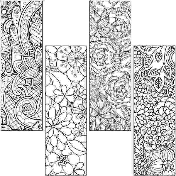 bookmarks coloring sheets upstart color craze floral bookmarks coloring pages coloring sheets bookmarks