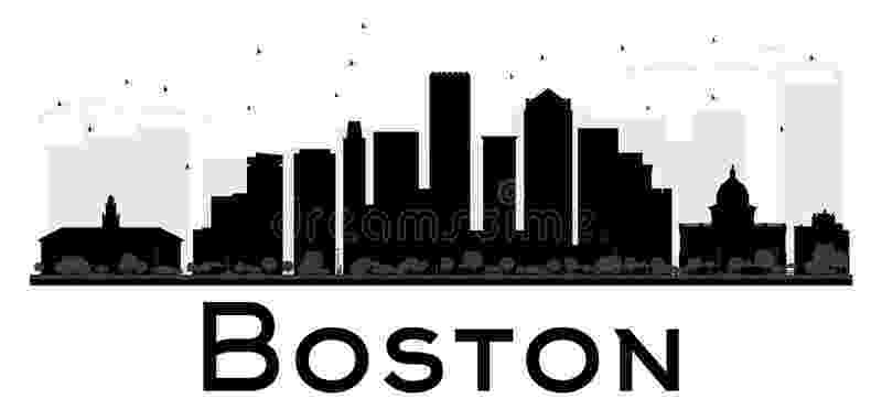 boston skyline vector boston city skyline black and white silhouette stock skyline vector boston