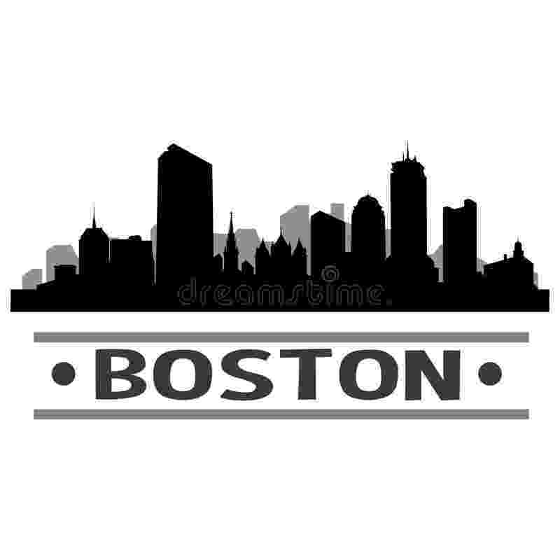 boston skyline vector boston skyline city icon vector art design stock vector boston vector skyline