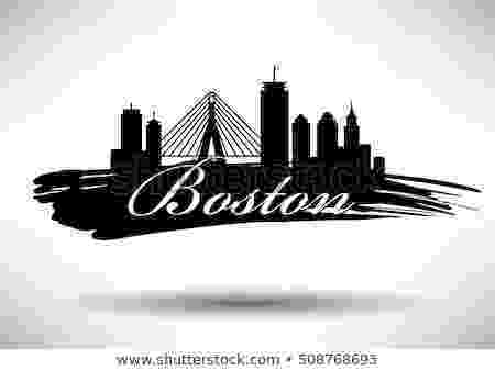 boston skyline vector vector graphic design boston city skyline stock vector vector boston skyline