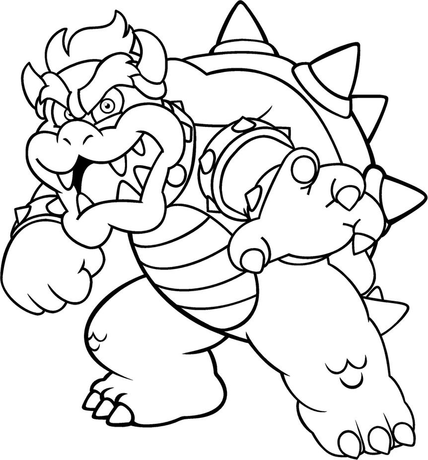 bowser to color coloring page of bowser junior coloring home color bowser to