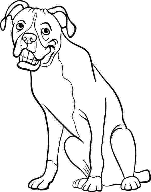 boxer puppy coloring pages guard dog drawing at getdrawingscom free for personal boxer coloring puppy pages
