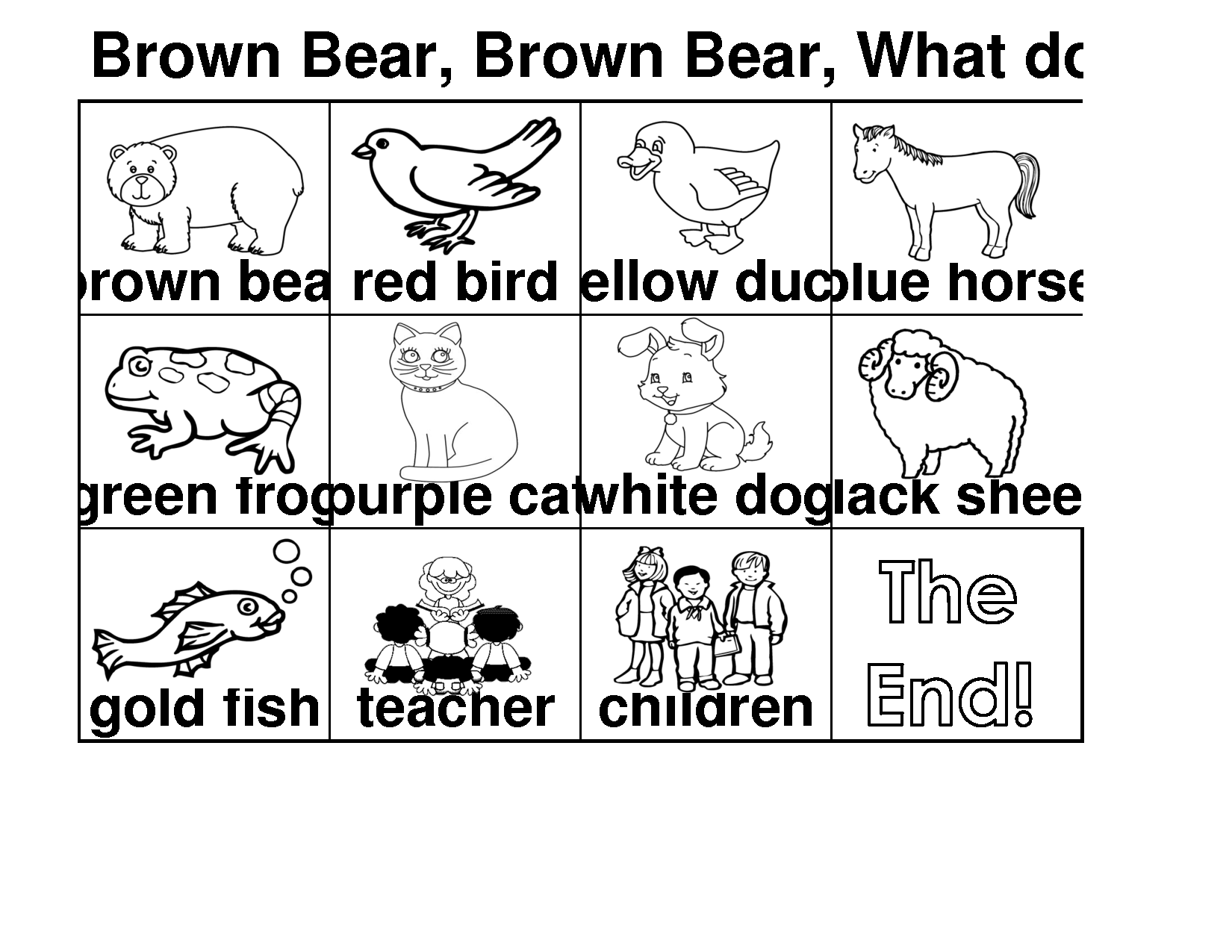 brown bear what do you see coloring pages brown bear brown bear what do you see coloring pages do see pages bear coloring what brown you