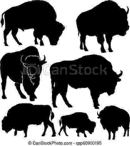 buffalo vector buffalo silhouette vector art getty images buffalo vector
