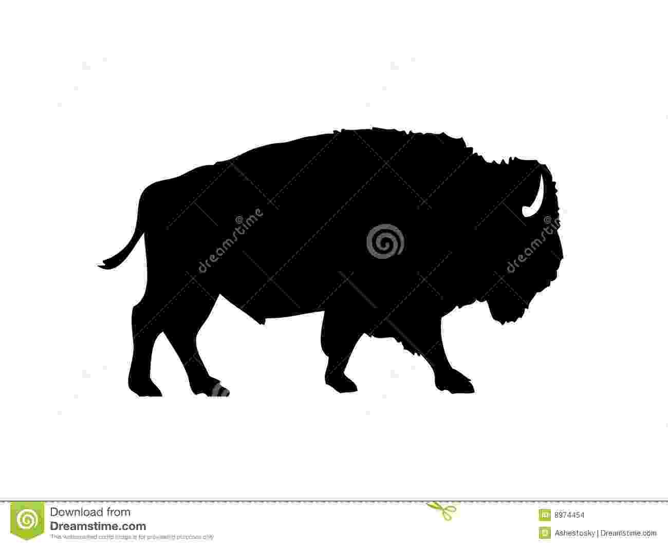 buffalo vector buffalo silhouette vector free download buffalo vector