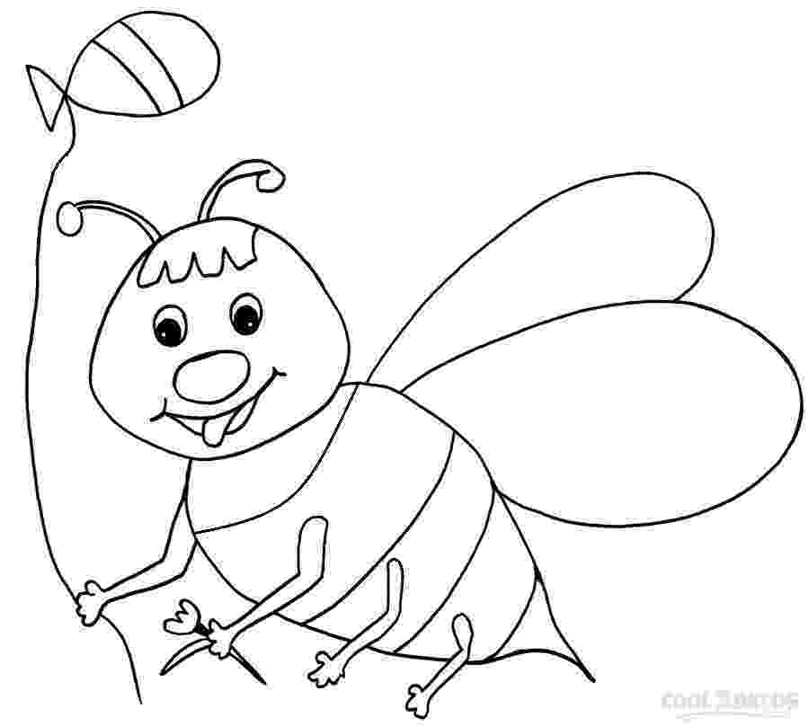 bumble bee coloring pages printable happy bumblebee and flowers coloring page download printable coloring bumble bee pages