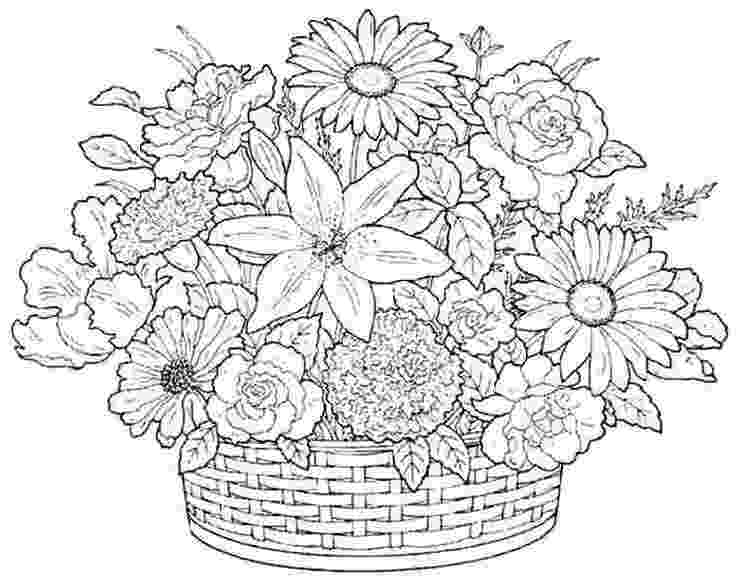bunch of flowers colouring pages boquet coloring pages google search coloring pages for flowers of bunch pages colouring