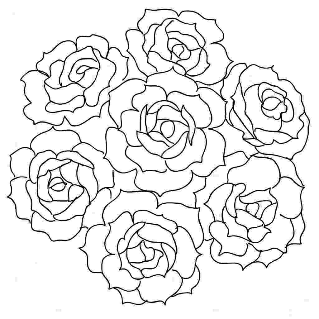 bunch of flowers colouring pages bunch of flowers drawing at getdrawingscom free for bunch colouring of pages flowers