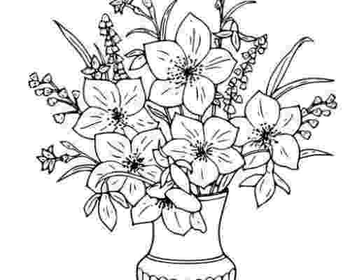 bunch of flowers colouring pages bunch of flowers drawing at getdrawingscom free for flowers pages of bunch colouring