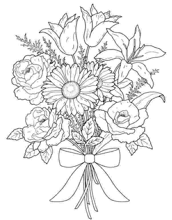 bunch of flowers colouring pages flower bouquet flower bouquet for valentine day of pages colouring flowers bunch