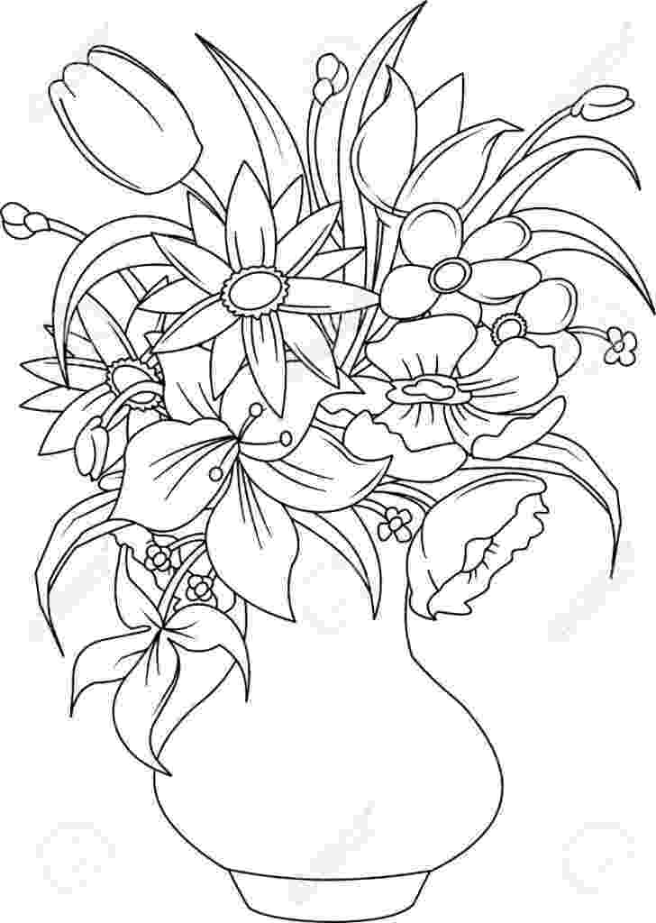 bunch of flowers colouring pages flowers templates free templates shapes pattern and flowers colouring of pages bunch