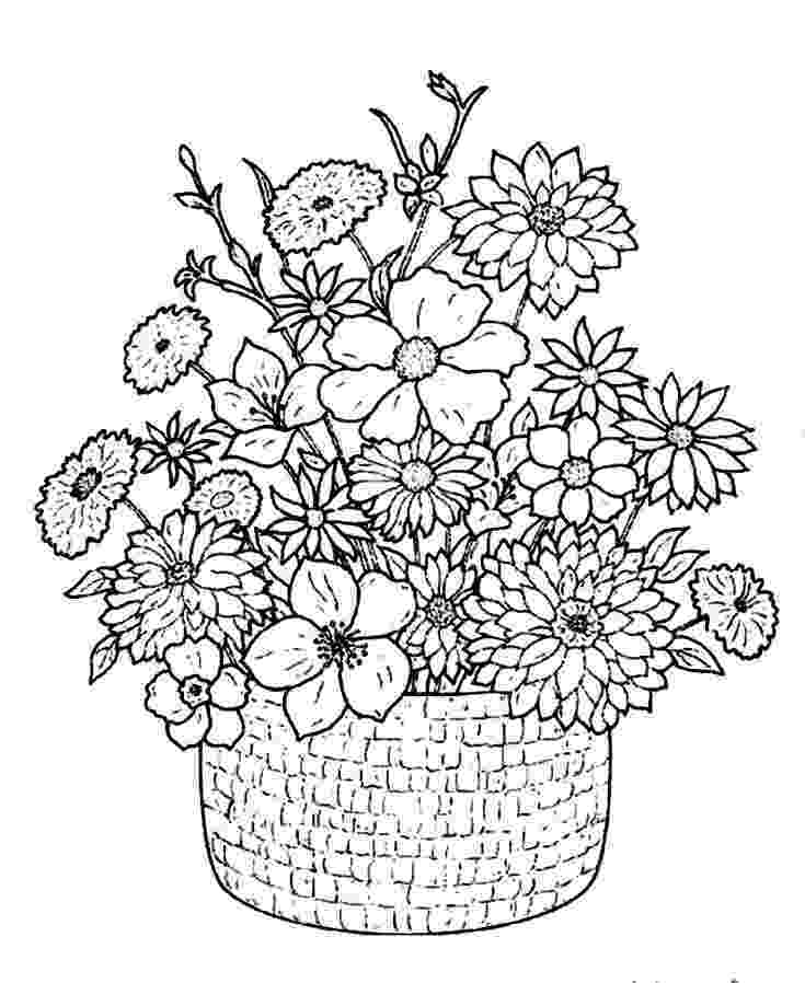 bunch of flowers colouring pages kleurplaat bos bloemen coloring page bunch of flowers bunch of colouring flowers pages