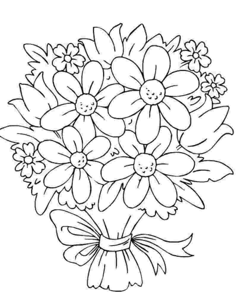 bunch of flowers colouring pages sailor moon with a bunch of flowers coloring pages of pages flowers bunch colouring