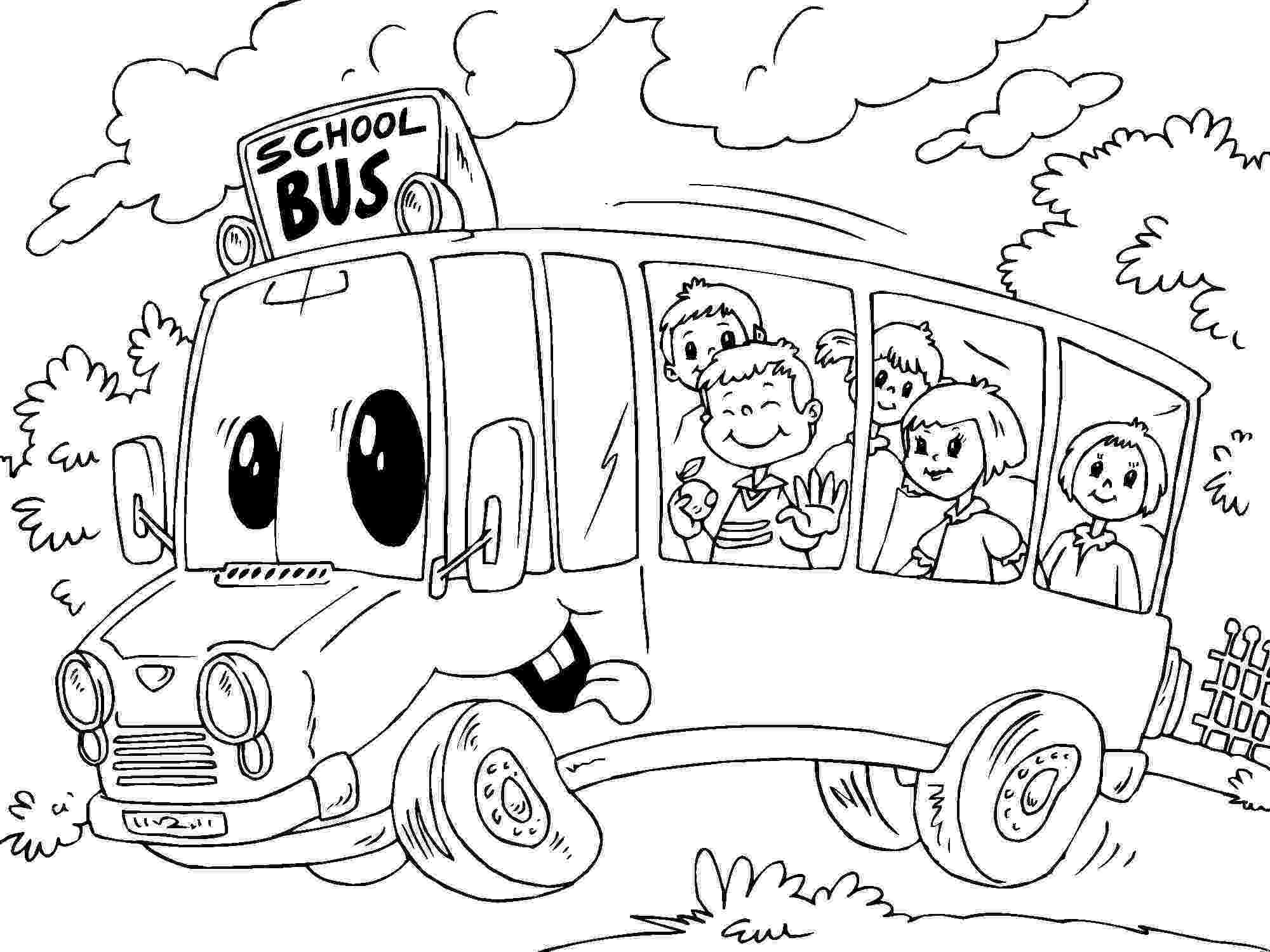 bus coloring pages free printable school bus coloring pages for kids bus coloring pages