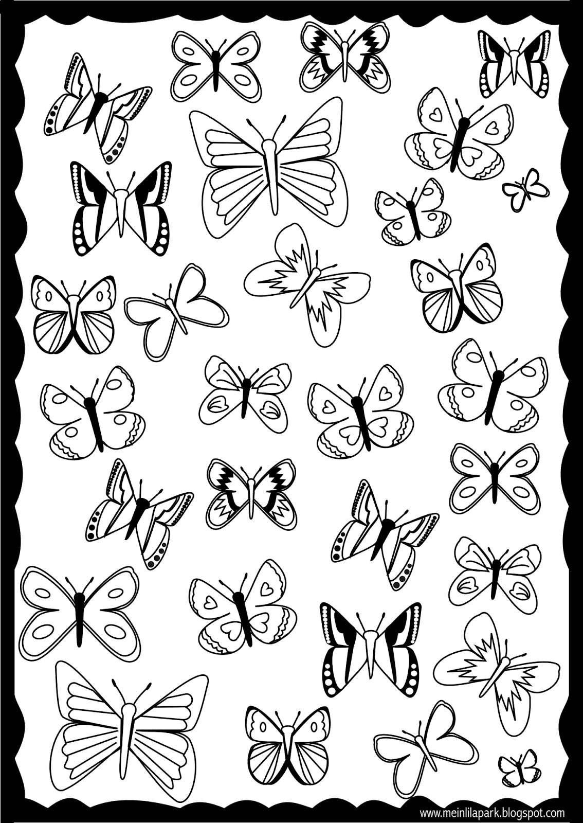 butterfly coloring sheets free printables free printable butterfly coloring page ausdruckbare sheets free coloring butterfly printables