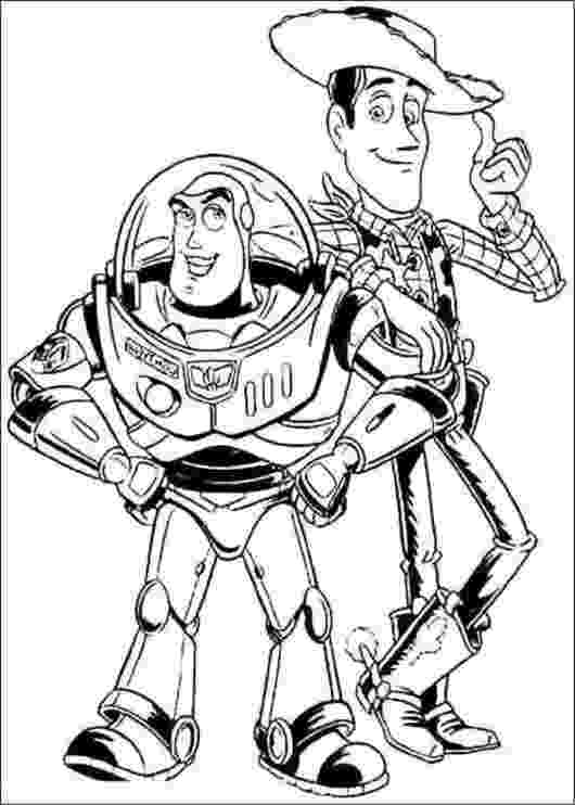 buzz and woody coloring pages buzz lightyear and sheriff woody shake hands toy story coloring pages woody and buzz