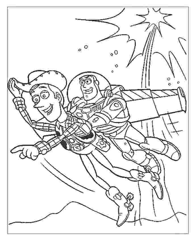 buzz and woody coloring pages woody and buzz lightyear flying coloring page print or woody and coloring pages buzz