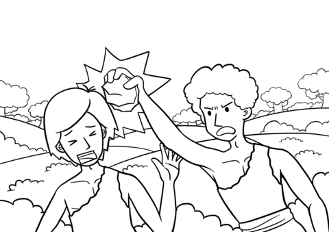 cain and abel coloring page cain and abel coloring page coloring home and coloring abel cain page