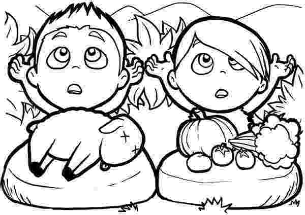 cain and abel coloring page cain and abel coloring pages cain page and coloring abel