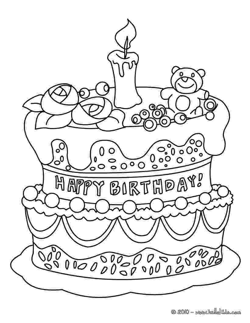 cake printable birthday cake coloring pages getcoloringpagescom cake printable