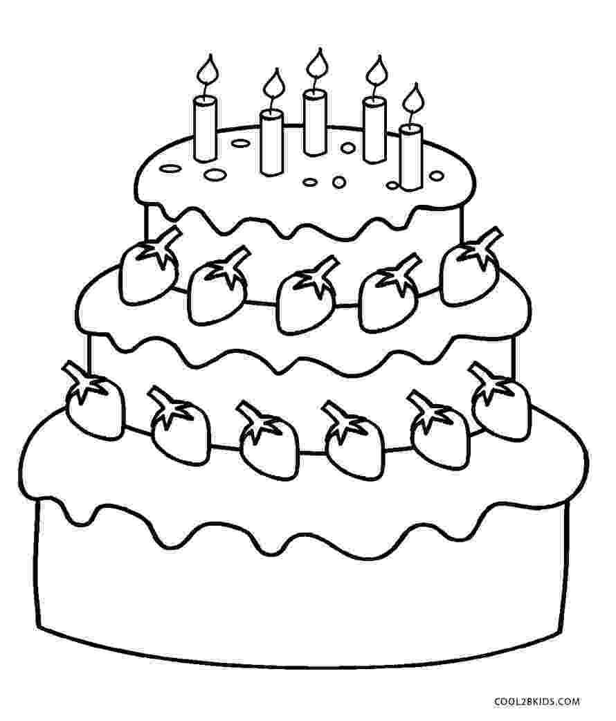 cake printable free printable birthday cake coloring pages for kids printable cake 1 1