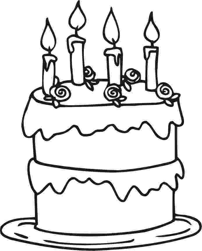 cake printable free printable birthday cake coloring pages for kids printable cake 1 4